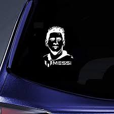 Amazon Com Dkisee Lionel Messi Soccer Player Sport Football Car Decal Vinyl Motorcycle Truck Auto Bumper Sticker Window Mirror Wall Decal Laptop Decal 6 Inch Sports Outdoors