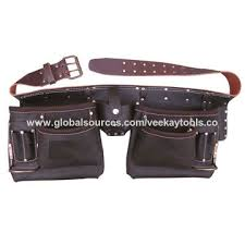pockets oil tanned leather tool belt