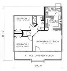 country house plan 2 bedrms 1 baths