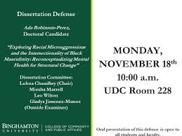Please join us for the dissertation... - Community Research and ...