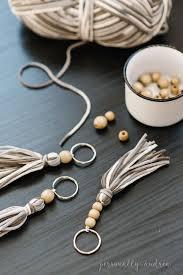 boho yarn and wood bead tassel boho
