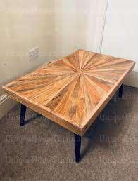 coffee table rustic metal side wood