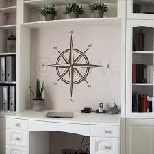 Amazon Com Compass Vinyl Wall Decal Sticker Metallic Bronze 22 H X 22 W Home Kitchen
