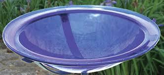 achla 12 5 le glass bird bath