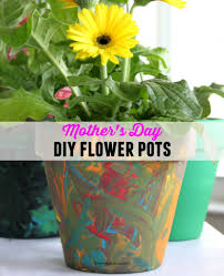 diy mother s day flower pot gift idea