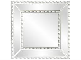 square mirrored frame with glass beaded