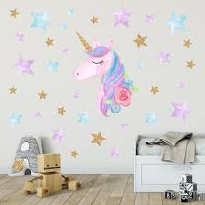 Unicorn Wall Decals Unicorn Wall Sticker Decor Rainbow Colors Wall Decals Birthday Christmas Gifts For Boys Girls Kids Bedroom Decor Large Removable Wall Decals Large Stickers For Walls From Hc Network 3 21 Dhgate Com