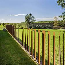 china corten steel fence rusty for