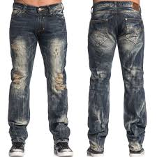 Affliction Ace Collins Flying A Heavy Distressed Destroy Holes Vintage Mens  Straight Leg Denim Jeans in Dark Blue Travertine Wash - UP TO SIZE 42