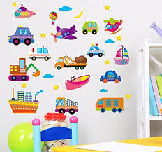 Amazon Com Soulspaze Cartoon Cars Child Room Wall Stickers For Kids Room Boy Bedroom Wall Decals Window Poster 3d Car Wall Sticker Design 2 Home Kitchen
