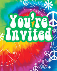 Invitacion Hippie 1196 1495 Hippie Party Tie Dye Party