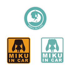 Dbc X Hatsune Miku Car Sticker Set Tokyo Otaku Mode