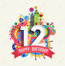 Feliz Cumpleanos Doce 12 Anos Tarjeta De Felicitacion Divertida
