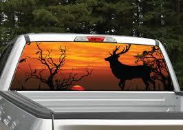 Buck Deer Elk Sunset 4 Hunting Rear Window Decal Graphic For Truck Ebay
