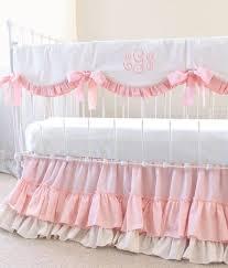 pink and white crib bedding girls