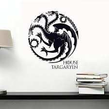 House Targaryen Decal Vinyl Art Got Sigils Dragons Symbol Tv Series Wall Sticker For Cars Laptops Wall Sticker Stickers For Wallstickers For Aliexpress