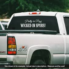 Pretty In Pink Wicked In Spurs Vinyl Decal Sold By 701customvinyl On Storenvy