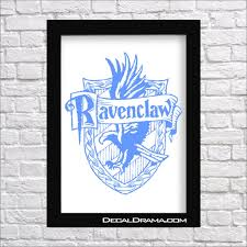 Ravenclaw House Crest Harry Potter Inspired Fan Art Vinyl Decal Decal Drama