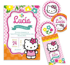 Kit Imprimible Hello Kitty Candy Bar Invitacion Decoracion 350