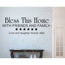 Wall Decal Bless This Home Friends Family