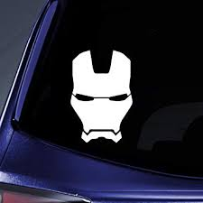 Amazon Com Bargain Max Decals Stark Face Mask Silhouette Sticker Decal Notebook Car Laptop 5 5 White Automotive