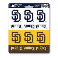 San Diego Padres Set Of 12 Sticker Sheet At Sticker Shoppe