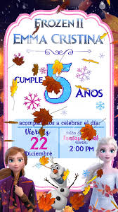 Tarjeta De Invitacion Animada Para Whatsapp De Frozen 2 Video