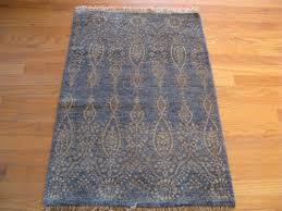 blue and gold modern modern indian rug