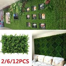 12x Fake Fence Plant Foliage Hedge Grass Mat Greenery Panel Hall Wall Decor Cy1 Dried Artificial Flowers Home Furniture Diy Plastpath Com Br