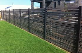 Horizontal Slatted Semi Privacy Screen Fence Think Fencing