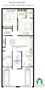 2 bhk floor plan for 24 x 57 feet plot