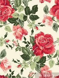 fancy rose wallpaper sticker pixers