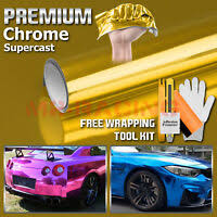 Champagne Gold Anodized Chrome Car Vinyl Wrap Sticker Decal Metallic Air Free Ebay