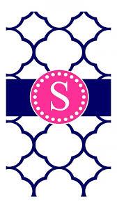 pink s monogram cute phone wallpaper