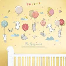 Baby Balloons Bunnies Wall Stickers Gallery Wallrus Free Worldwide Shipping