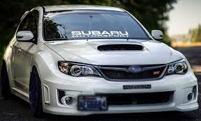 Amazon Com Gy Vinyl Arts Windshield Decal Car Sticker Banner Graphics For Subaru Motorsport Impreza Brz Wrx Sti 4 5 X 42 White Automotive