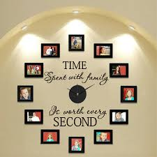 Time Spent With Family Family Quotes Vinyl Wall Sticker Home Wall Decals Decor Not Including Photo Frames Time Spent With Family Time Spentfamily Quotes Aliexpress