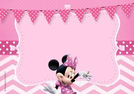 Invitacion Minnie En Rosa Invitaciones Minnie Tarjetas Minnie