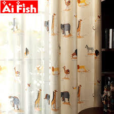Children Cartoon Boys Girls Bedroom Curtain Kids Blinds Window Shade Cloth Cute Animal Print Pattern Screening Fabric My204 30 Leather Bag