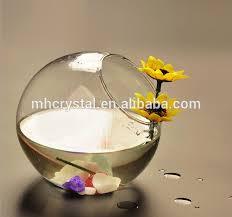 tilted glass bubble bowl vase mh 12730