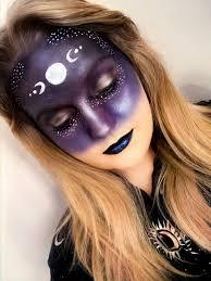 moon dess halloween makeup tutorial