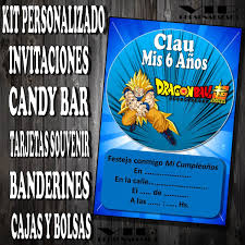 Kit Imprimible Dragon Ball Z Cumpleanos Bautismos 280 00