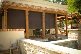 outdoor patio shutters roller shades