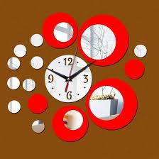 2 pcs 3d stereo decorative clock
