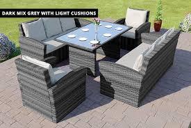 8 seater highback rattan furniture set