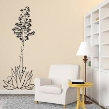 Hand Drawn Agave Americana Plant Wall Decal