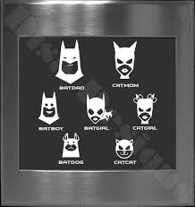 Batman Bat Family Decals By Disadesigns 8 00 Batman Batman And Catwoman Bat Family