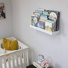 Wallniture Philly White Wall Shelf Kids Room Decor Floating Book Shelf And Tray Toy Storage Organizer 23 75