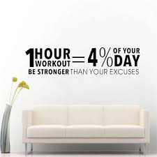 Workout Inspiring Quotes Decor Sticker Gym Vinyl Wall Decal Fitness Motivation Lettering Wall Art For Living Room Home Decor Wall Stickers Aliexpress