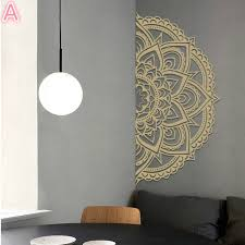Half Mandala Wall Stickers Mobile Vinyl Stickers For Home Headboard For Meditation Yoga Removable Mural Art Decoration Living Room Bedroom Mural Wall Decals Wish